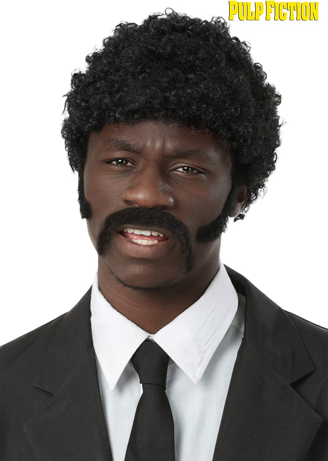 Fun Costumes Pulp Fiction Adult Jules Winnfield Wig and Facial ...
