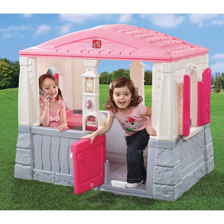 Amazon.com: Kids Outdoor Playhouse Children Toddler Yard Indoor Girls  Cottage Home Hut Pink: Toys & Games