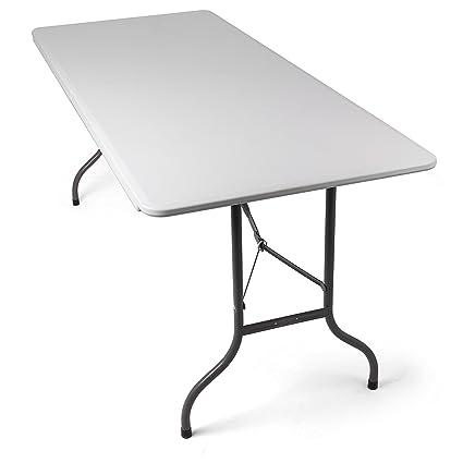 Tavolo Da Esterno Pieghevole.Tavolo Pieghevole Da Giardino Bianco Perfetto Come Tavolo Da