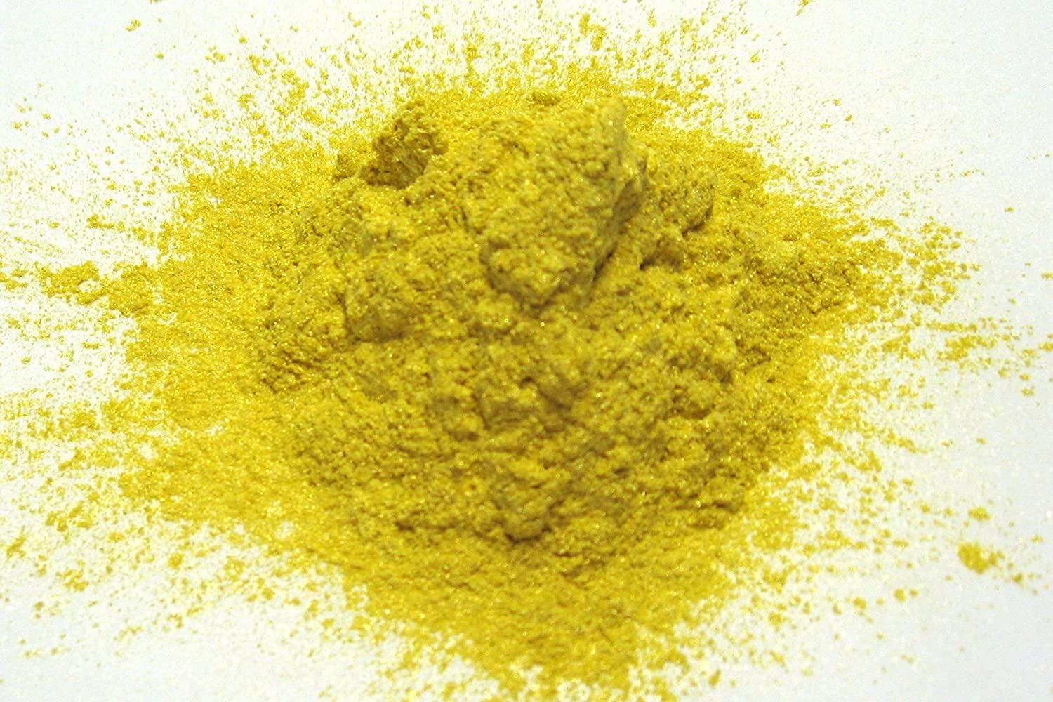 Magic Yellow Mica Powder15 grams, Metallic Yellow Pearl Powder, Cosmetic Mica Powder for Lipsticks, Lip Balm, Bath bombs and More, Slice of the Moon EKS Entertainment Group
