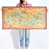 Gb eye limited gn0430 world map antique style maxi poster multi large vintage world map kraft paper paint retro navigation ancient sailing map wall poster living room gumiabroncs Image collections