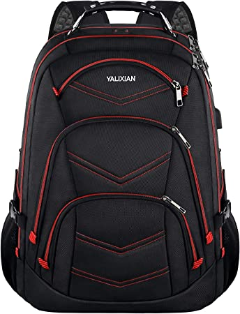 Amazon Com 18 4 Inch Laptop Backpack Extra Large Travel Gaming Laptop Backpacks With Usb Charging Port Tsa Friendly Flight Approved Rfid Anti Theft Water Resistant Men College Bookbag School Student Computer Bag Computers Accessories