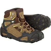 ICETRAX Pro Winter Ice Grips for Shoes and Boots - Ice Cleats for Snow and Ice, StayON Toe, Reflective Heel