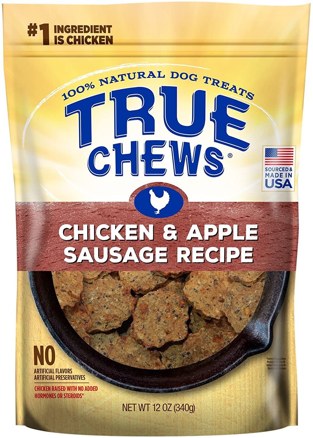 True Chews Chicken and Apple Sausage Recipe 12 oz