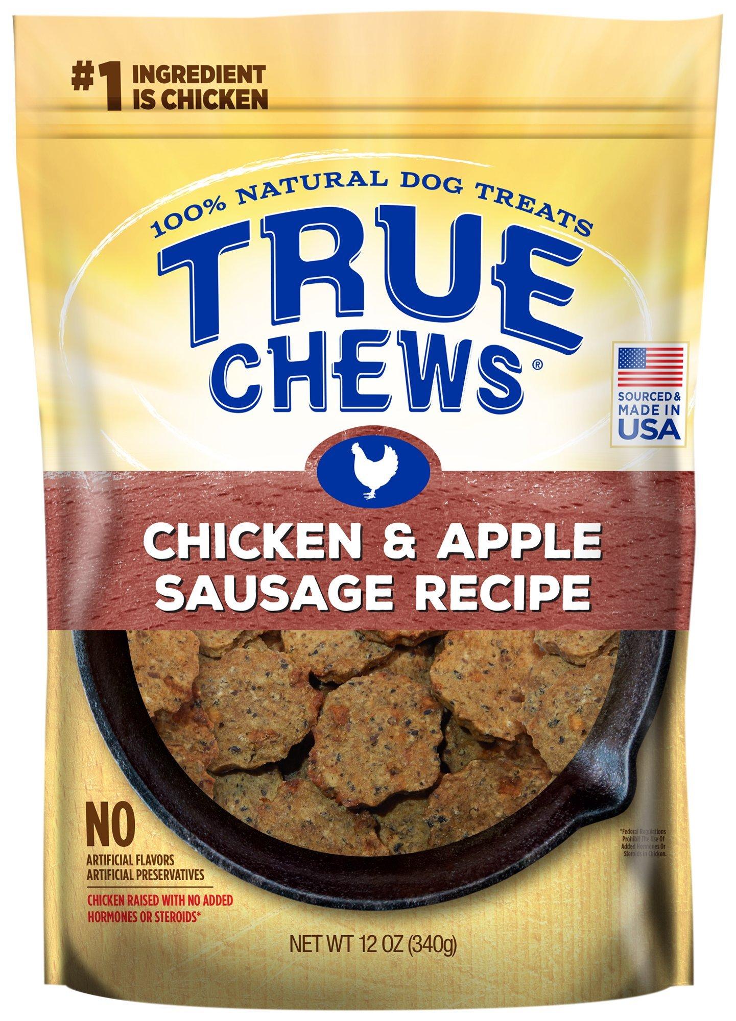 True Chews Chicken and Apple Sausage Recipe 12 oz, 6 count