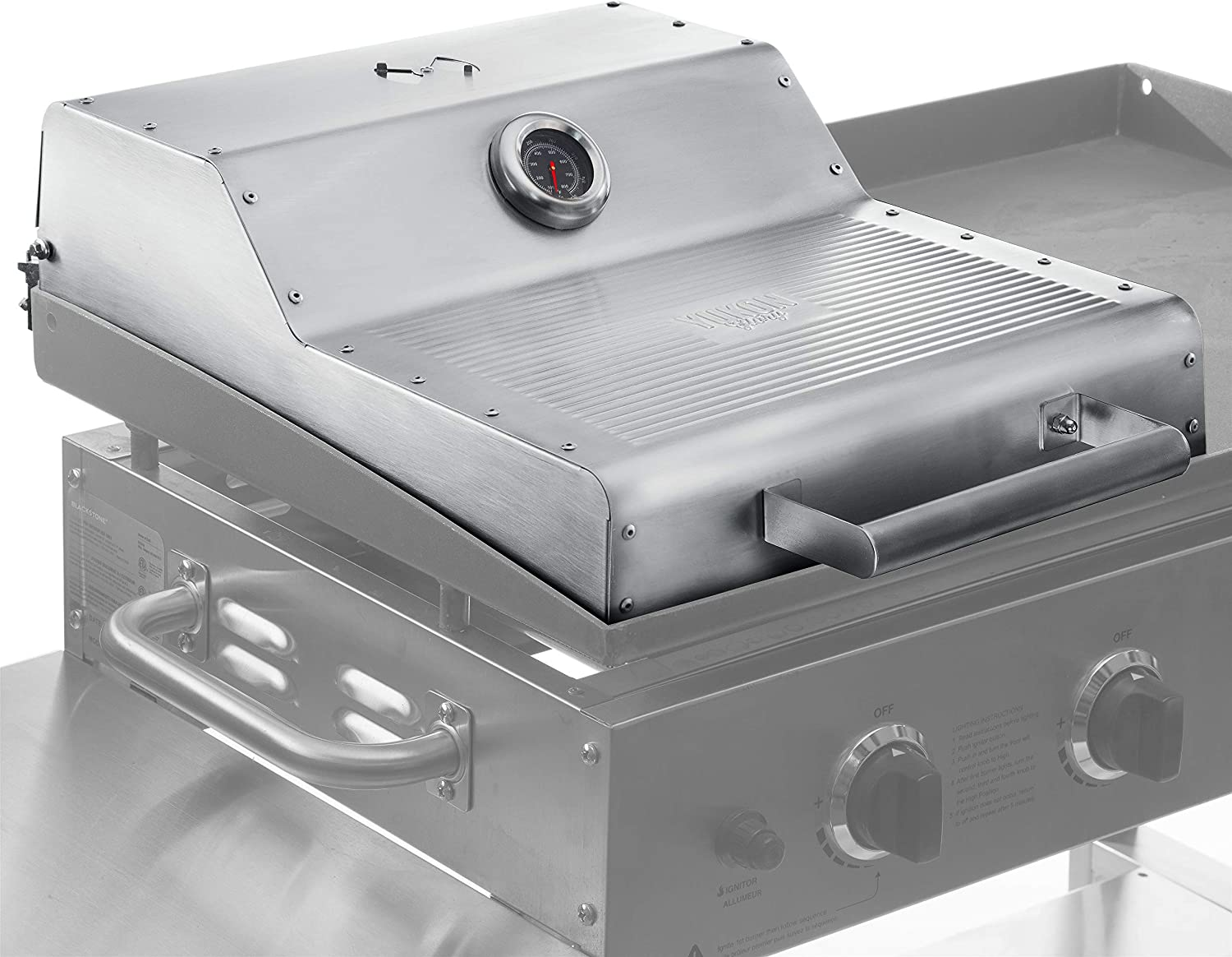 "Yukon Glory Griddle Hood, Designed to be Compatible with The Blackstone 36"" Griddle, Adds All-Round Convection Cooking to Your Griddle, Built-in Thermometer and Warming Rack (Not for Pro-Series)"