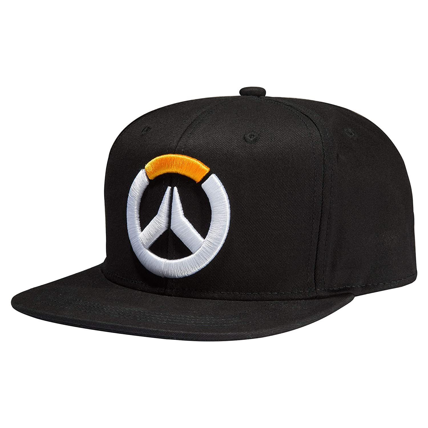 Amazon.com  JINX Overwatch Frenetic Snapback Baseball Hat (Black ... 7b052e938eb