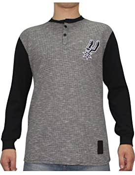 UNK NBA San Antonio Spurs Hombre athletisches Largo Chaqueta de Punto Casquillos de Camisa, Hombre, Color Grau u. Schwarzes, tamaño Large: Amazon.es: ...