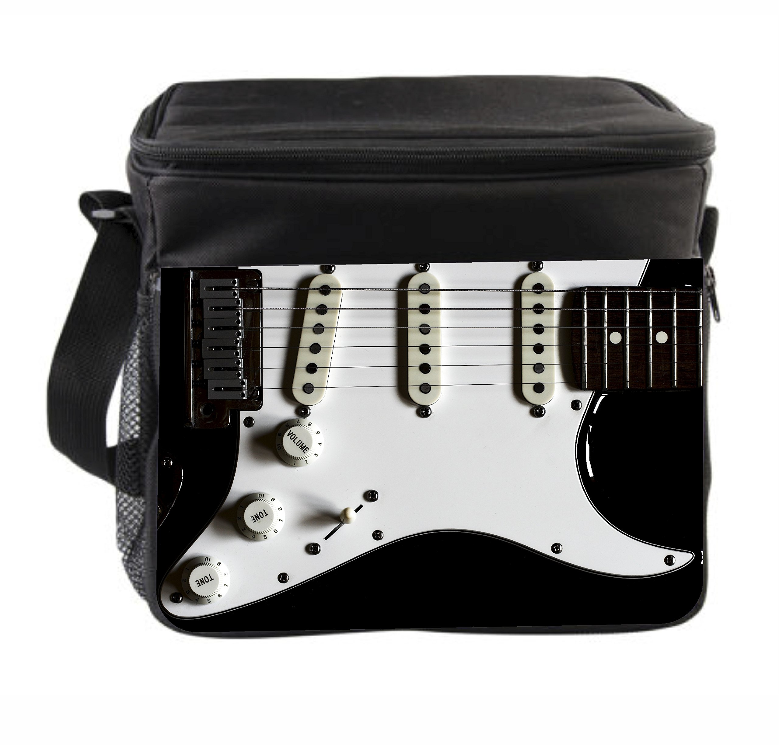 Rosie Parker Inc. Electric Guitar Fully Insulated Black Thermal Cooler Bag by Rosie Parker Inc.