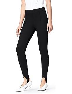 e6d2d00b623150 AMORETU Womens Stretch Plain Lined Leggings Pantyhose Tights Pants ...