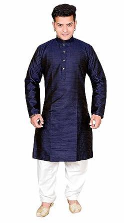 7d4913b8cc Amazon.com: Mens Indian Navy Blue with cream Kurta salwar kameez paiama suit  sherwani 1815: Clothing