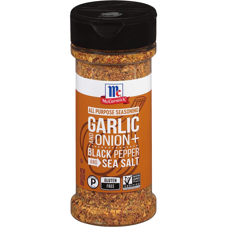 McCormick Garlic, Onion, Black Pepper & Sea Salt All Purpose Seasoning, 4.25 oz
