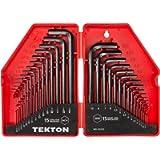 TEKTON Hex Key Wrench Set, 30-Piece (.028-3/8 inch, 0.7-10 mm)   25253