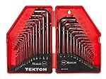 TEKTON Hex Key Wrench Set, Inch/Metric, 30-Piece   25253