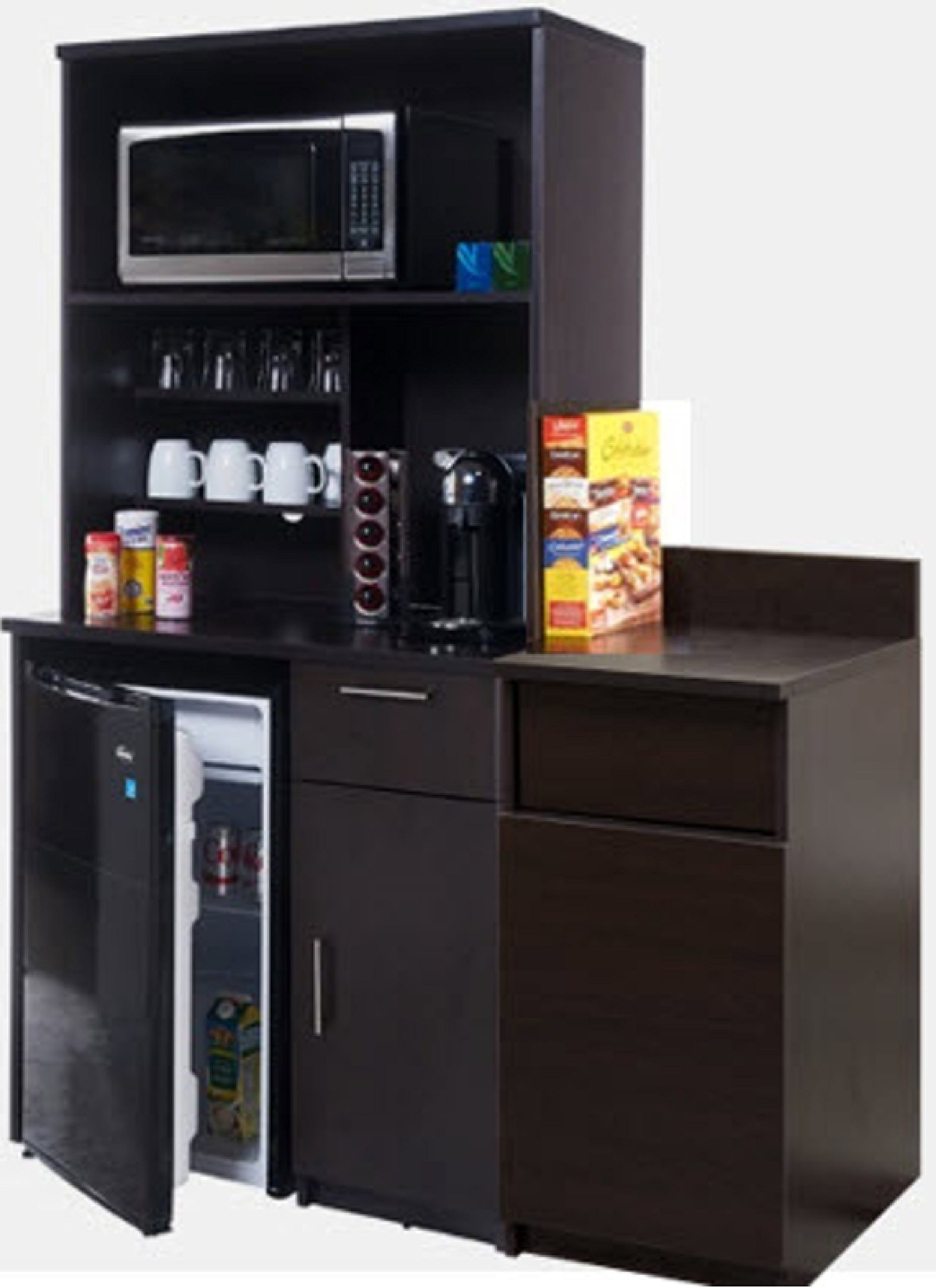 Coffee Kitchen Lunch Break Room Cabinets Model 4252 BREAKTIME 3 piece group Color Espresso - Factory Assembled (NOT RTA) Furniture Items ONLY. by Breaktime (Image #1)