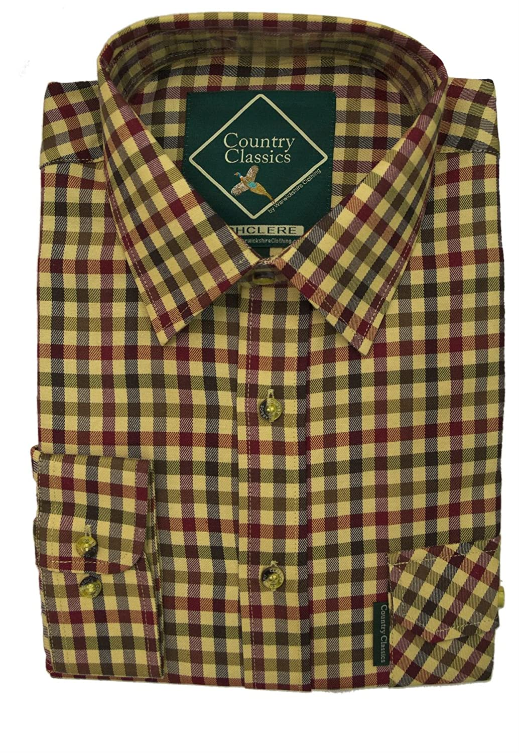 Country Classics Mens Shirts Ascot Stylish Check Flannel Outdoor Long Sleeve Shirts