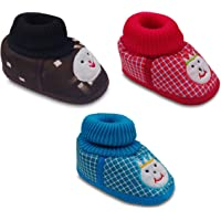 Tavish 3-10 Months Baby Shoes with Anti-Slip Sole Suitable for Both boy and Girl in Design - Combo of 3