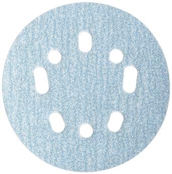 Pack of 10 Grit P100 Medium Norton 3X High Performance Hook and Sand Paper Discs with 6 Hole Ceramic Alumina 6 Diameter