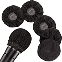 200 Pcs Disposable Microphone Cover Non-Woven, Clean and No-Odor Windscreen Mic Covers, Removal Microphone Cover…