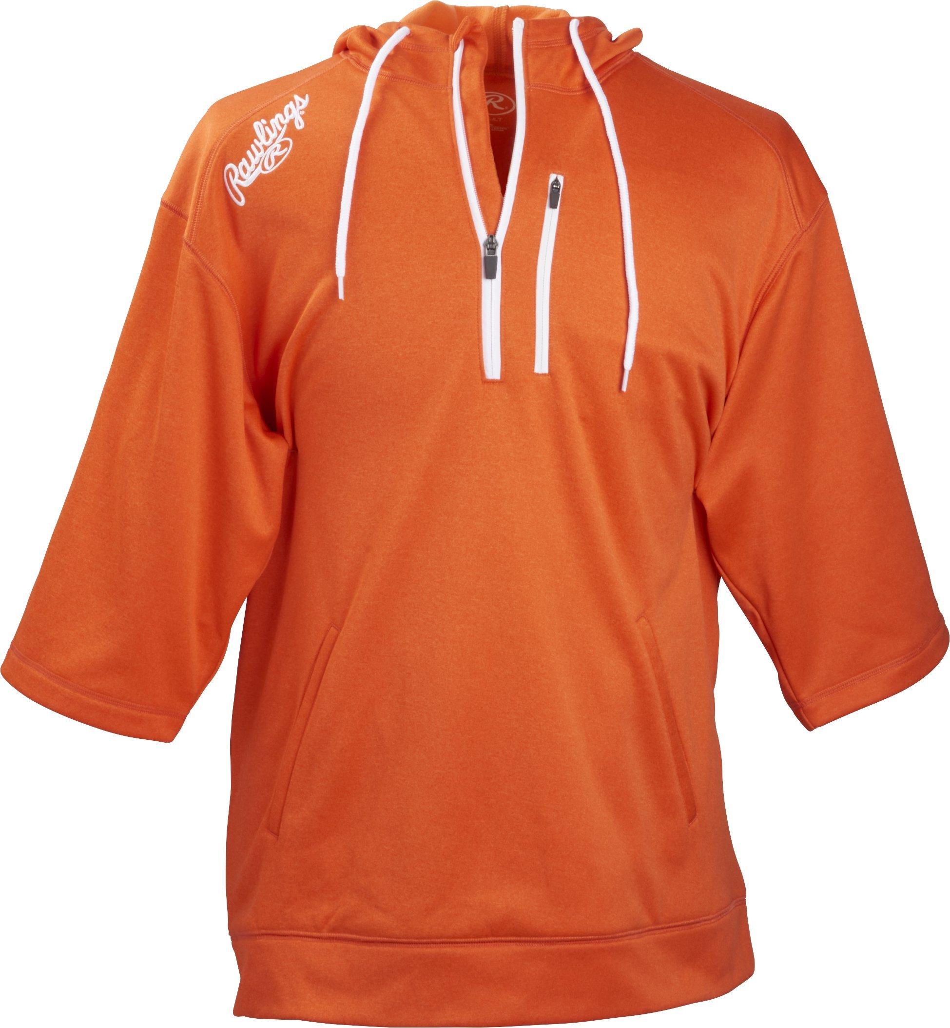 RAWLINGS Men's Short Sleeve Hoodie, Burnt Orange, 3X-Large by RAWLINGS