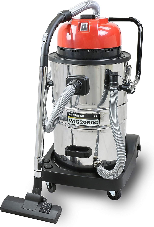 Stayer 1.1198 Aspirador para sólidos y líquidos con depósito de 50L, VAC 2050 C: Amazon.es: Bricolaje y herramientas