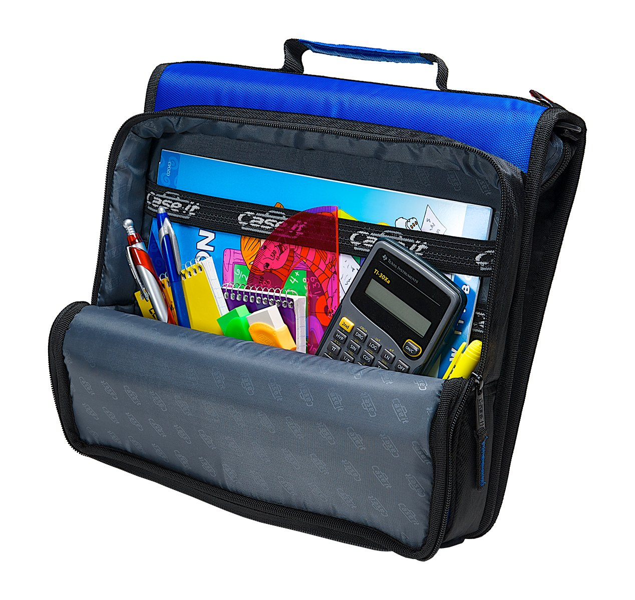 Case-it 2-Inch Universal 2-Inch Case-it 3-Ring Zipper Binder, Holds 13 Inch Laptop, Negro, LT-007-BLK 94c9c3