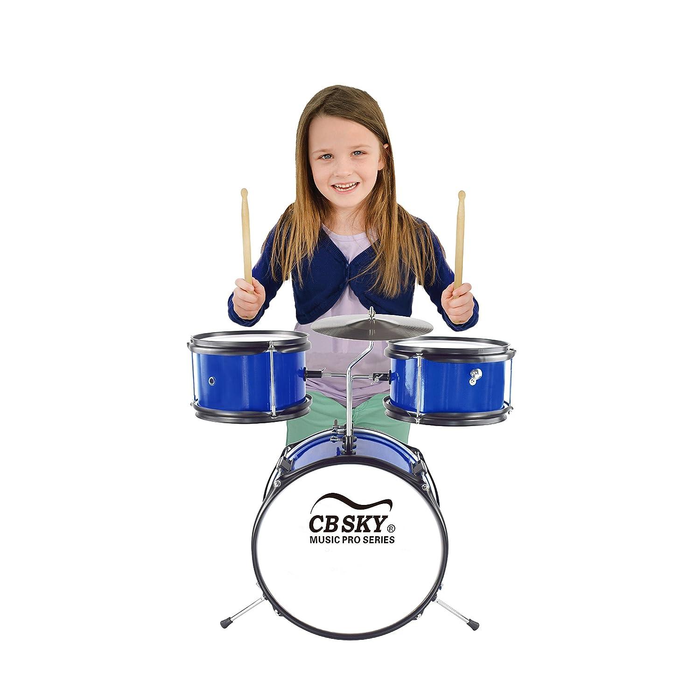 Instrumento musical para ni/ños Juguetes musicales para ni/ños Bater/ía junior de 5 piezas CB Sky Instrumento de percusi/ón para ni/ños