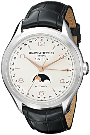 af33e40c62f Amazon.com  Baume   Mercier Men s BMMOA10055 Clifton Stainless Steel ...