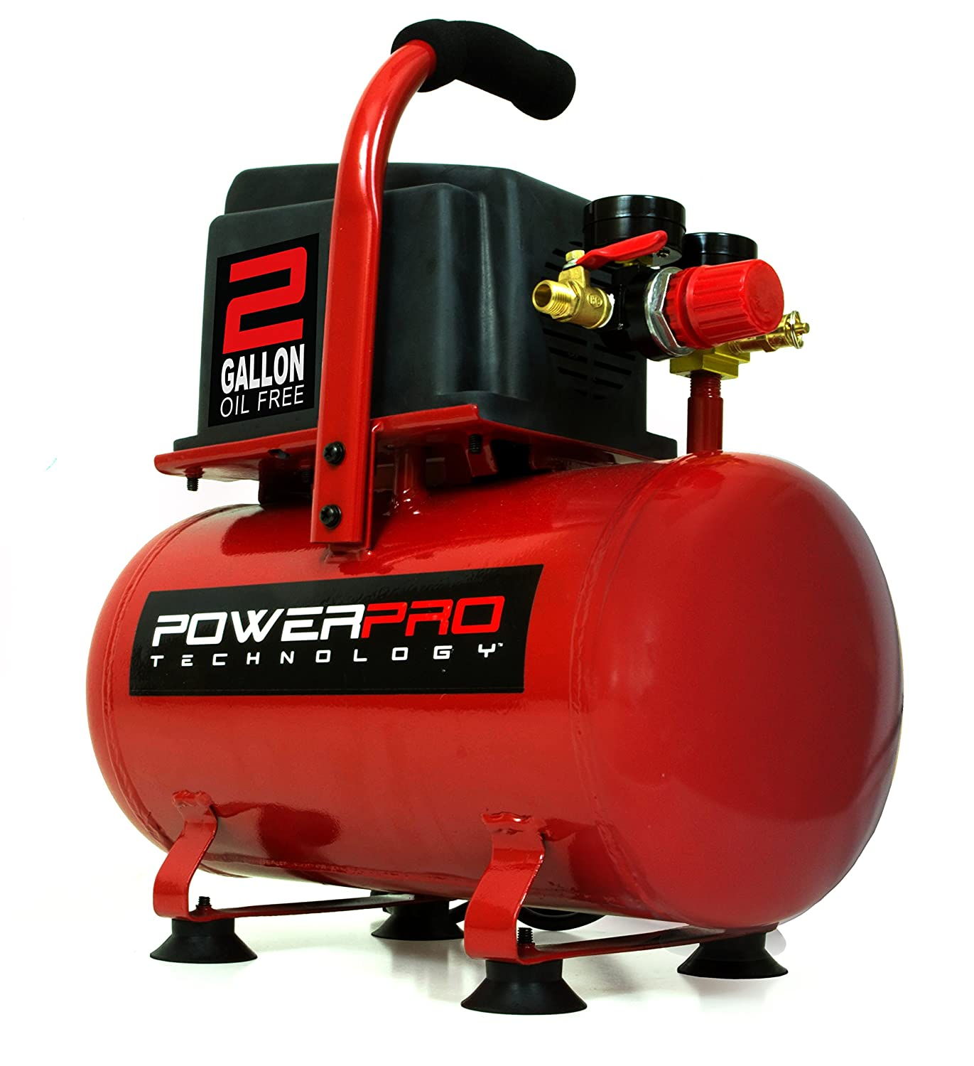 PowerPro 22020 2 Gallon Oil Free Air Compressor Great Lakes Tool MFG INC