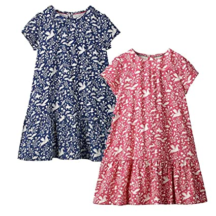 Image Unavailable. Image not available for. Color  2Pcs Little Girls Summer Dress  Party Princess Dress Baby Girl Clothes Animal Applique Kids Dresses for 0bce9518c