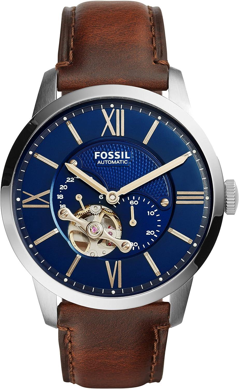 Fossil Reloj Analogico para Hombre de Automático con Correa en Piel