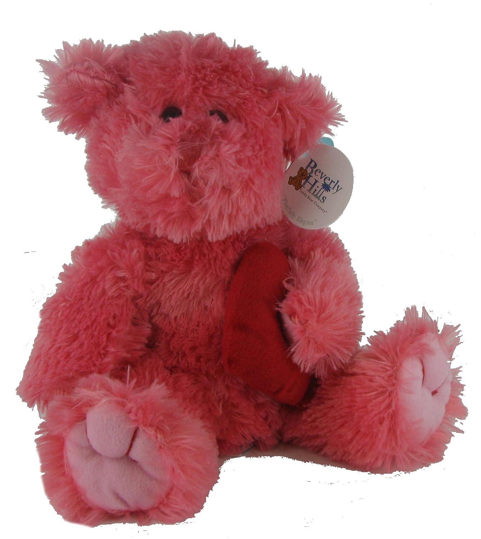 Beverly Hills Teddy Bear Valentine Rose Beat en peluche avec cœur
