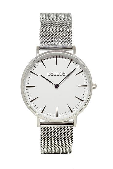 DECADE Hombre Reloj de pulsera plata, stahlarmband D101 decadewatch: Amazon.es: Relojes