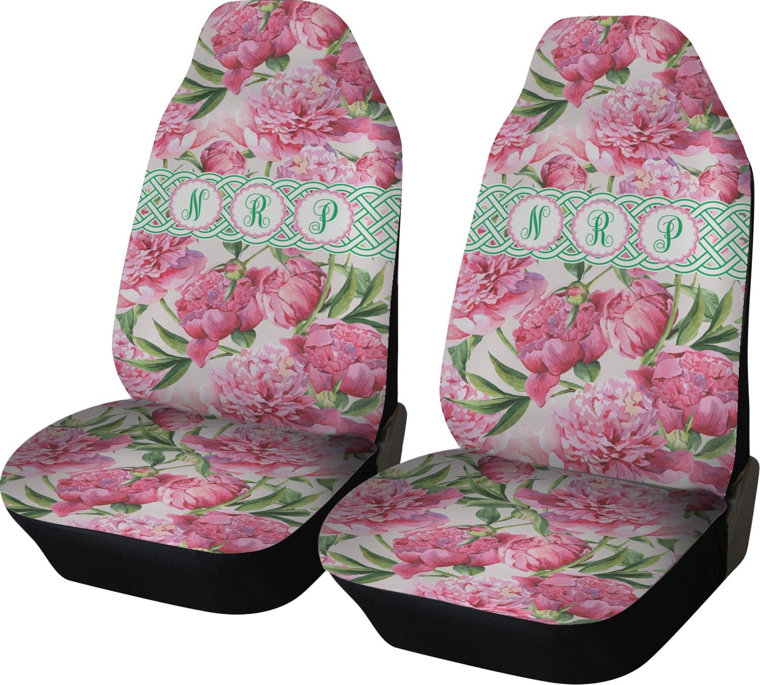 Amazon Rnk Shops Watercolor Peonies Car Seat Covers Set Of Two