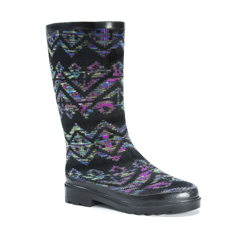 MUK LUKS Women's Anabelle Rainboots Rain Shoe B01LML1EI2 9 B(M) US|Black