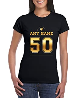 Number 50 T Shirt For Women With Name