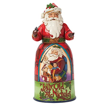 Jim Shore for Enesco Heartwood Creek Jolly Old St Nicholas Santa Figurine, 9.75-Inch