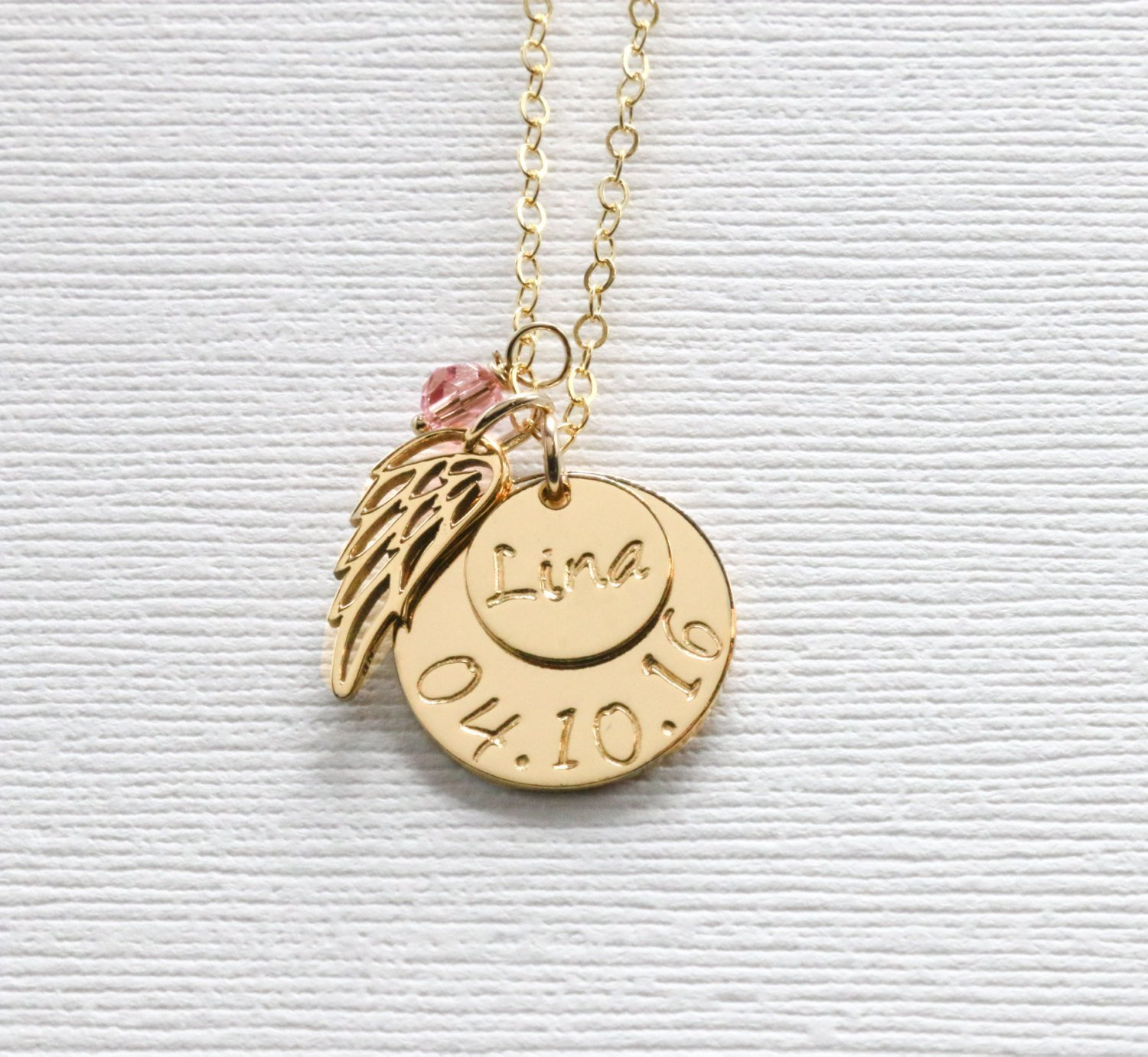 angel necklace baby miscarriagejewelry affirmationnecklace affirmation angelbabyaffirmationnecklace miscarriage