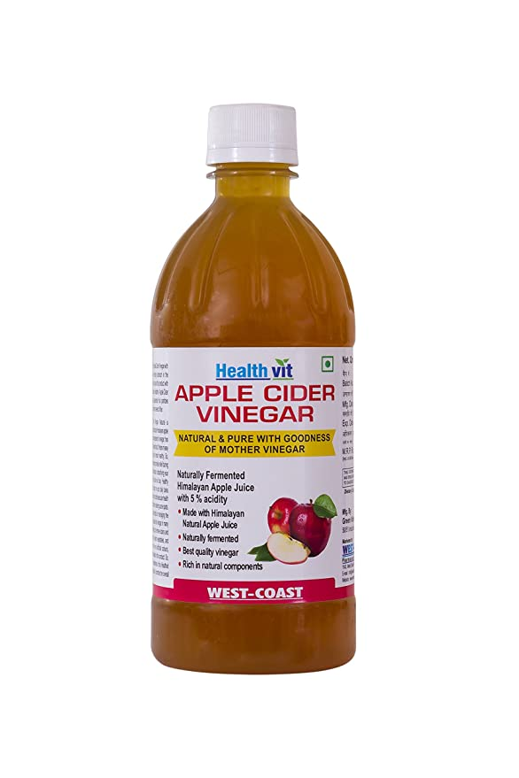 HealthVit Apple Cider Vinegar with Mother Vinegar, Raw, Unfiltered and Undiluted - 500 ml-Best-Popular-Product