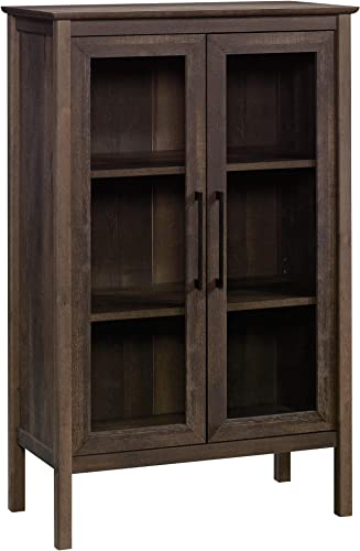 Sauder Anda Norr Display Cabinet, L 31.77 x W 16.02 x H 50.2 , Smoked Oak