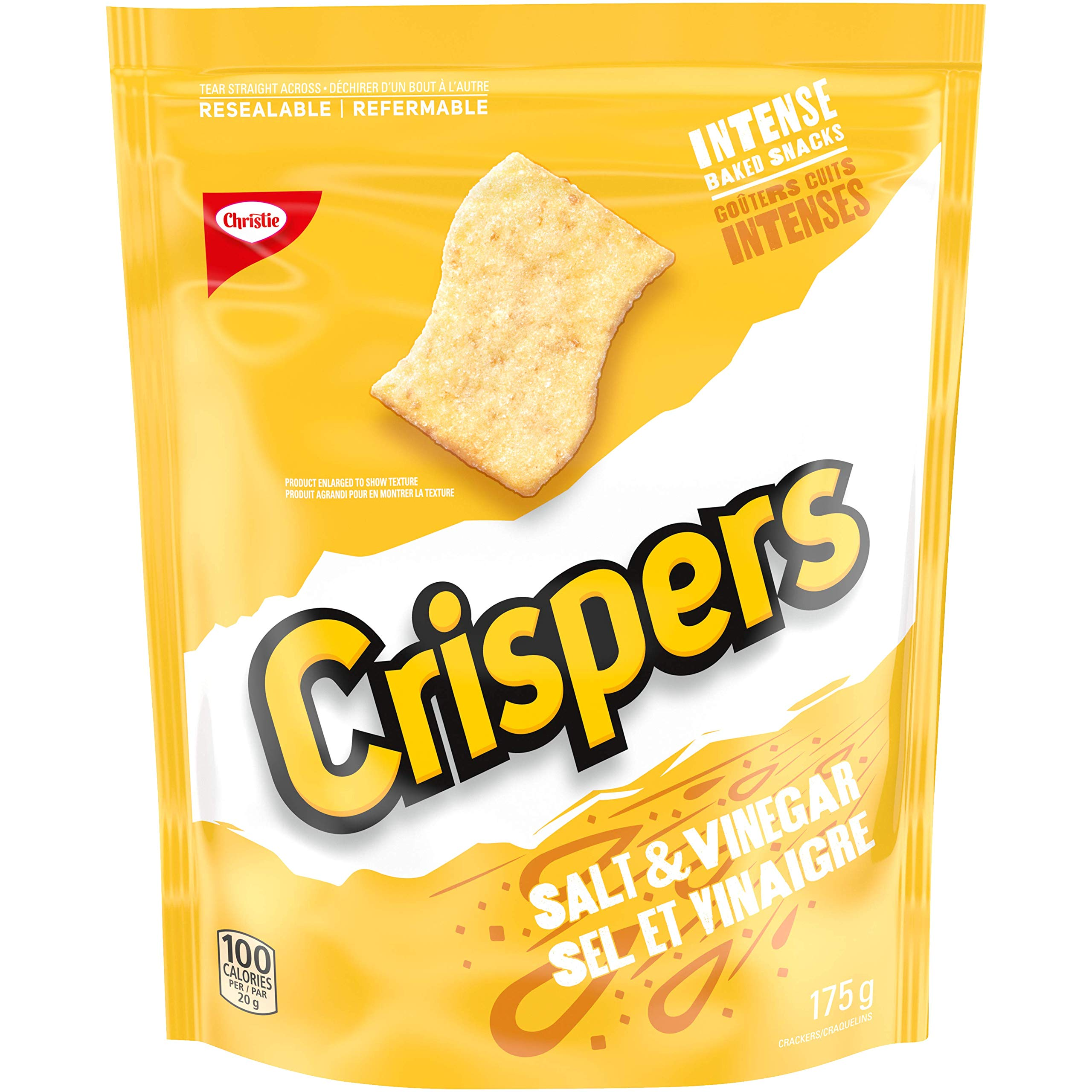 Crispers Christie Salt and Vinegar, 1 Bag Total 175 grams/6.17 Ounces {Imported from Canada}