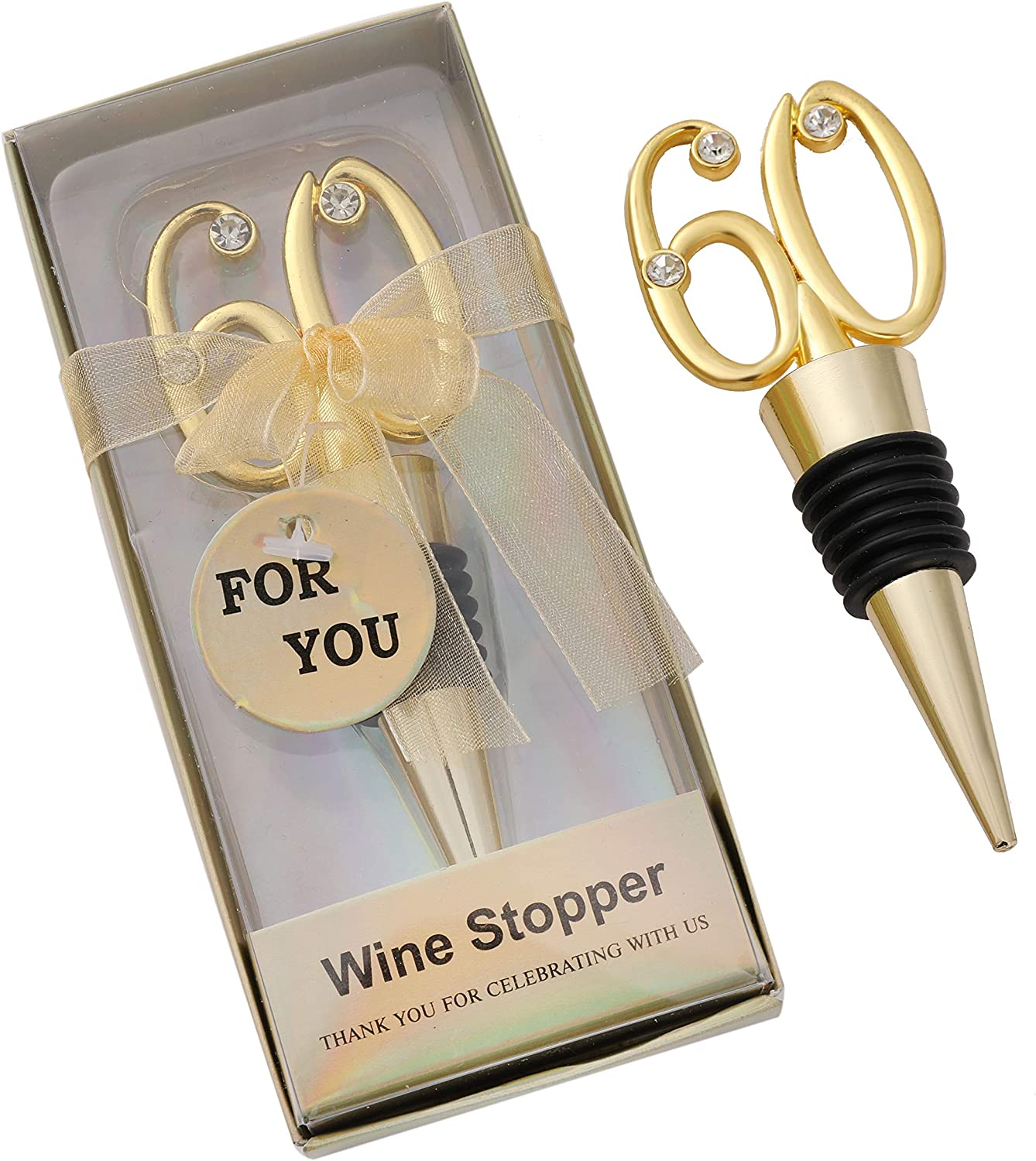70th Birthday Anniversary Celebration Pewter Bottle Stopper /& Personalised Gift Box
