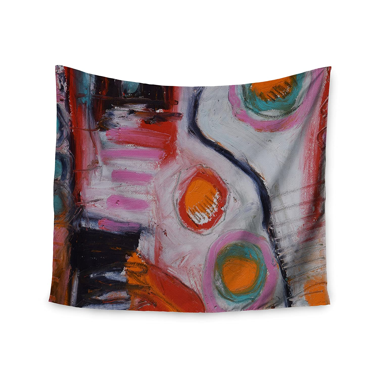 Kess InHouse Jeff Ferst Bold New Day Red Black Painting, 68' x 80' Wall Tapestry 68 x 80 Wall Tapestry JF1028AWT02