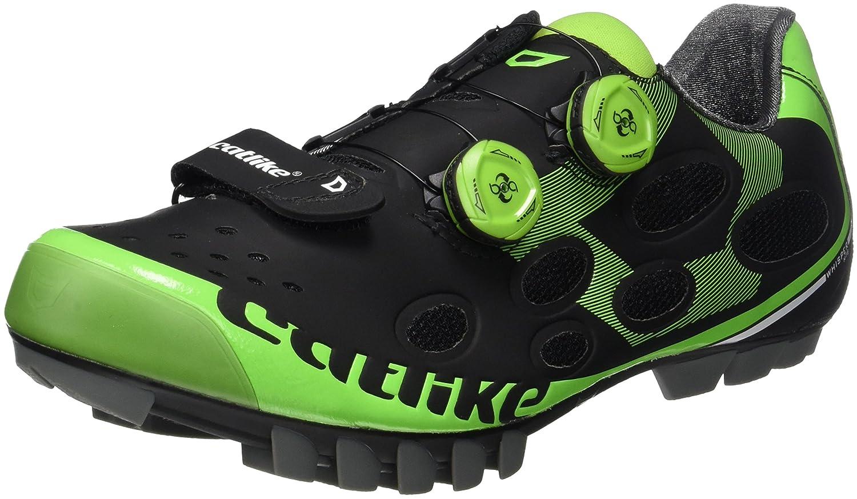 Catlike Whisper MTB 2016, Zapatillas de Ciclismo de Montaña Unisex Adulto, Negro (Negro/Verde 000), 42 EU