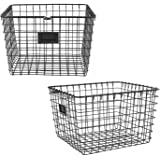 Spectrum Diversified Wire Storage Basket, Medium, Industrial Gray, 2-Pack
