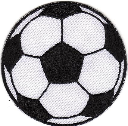 Hierro en parche Sew en bordado aplicación fútbol balón de fútbol ...