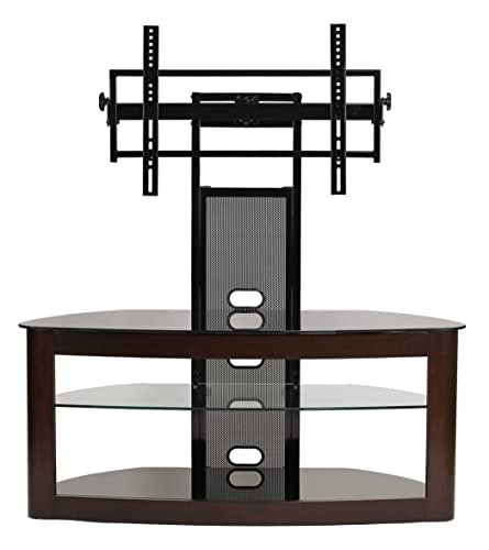 TransDeco TV stand with mount for 35-80 inch television, Espresso Black