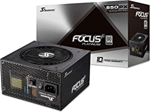Seasonic FOCUS Plus 850 Platinum SSR-850PX 850W 80+ Platinum ATX12V & EPS12V Full Modular 120mm FDB Fan 10 Year Warranty Compact 140 mm Size Power Supply