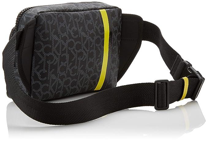 3841bc9728 Calvin Klein Ck Mono Waist Bag, Men's Shoulder Black (Blackwhite Black/Black )