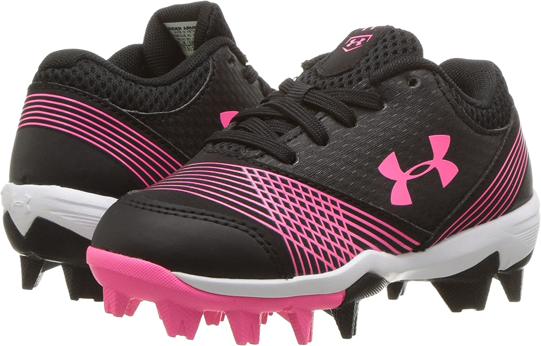 //Cerise 064 Under Armour Girls Glyde Jr 11K RM Softball Shoe Black